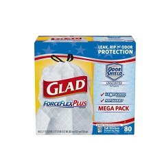 Glad Tall Kitchen Drawstring Trash Bags Island With Seating 80 Count Forceflexplus