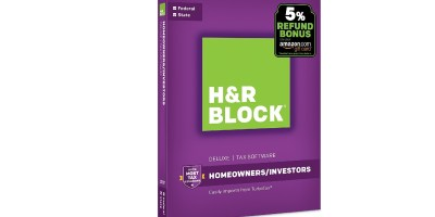 H&R Block Tax Software Deluxe + State 2017 with 5% Refund Bonus Offer