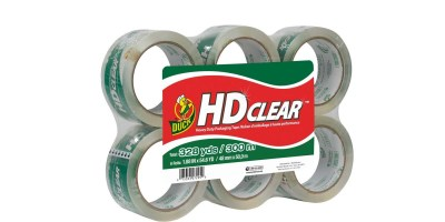 6 Rolls Duck HD Clear Heavy Duty Packaging Tape Refill1.88 Inch x 54.6 Yard