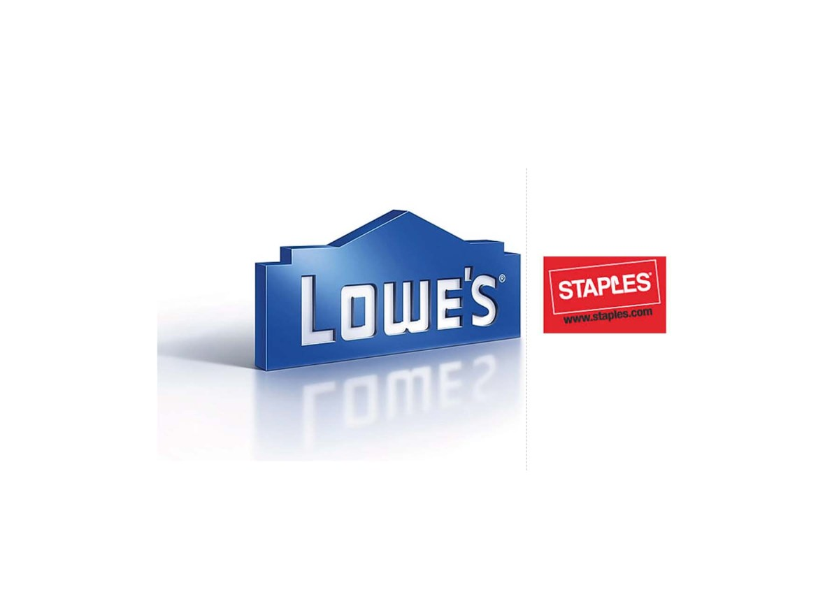 $100 Lowes Gift Card for $90.00 at Staples (Email Delivery)