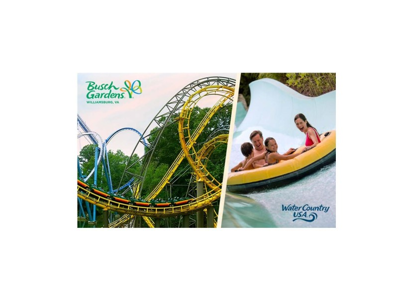 3-Day Ticket to Busch Gardens Williamsburg and Water Country USA