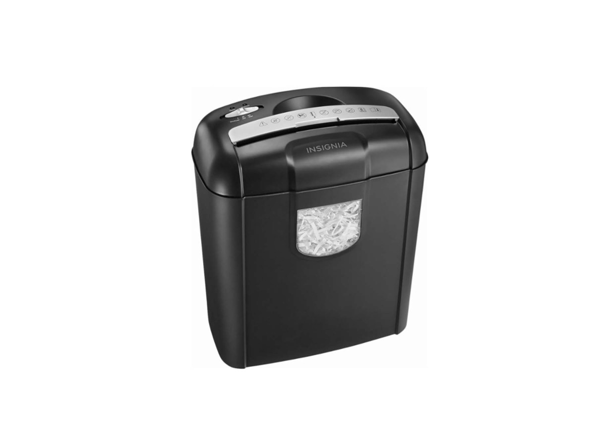 Insignia 6-Sheet Crosscut Shredder for $19.99 at Best Buy