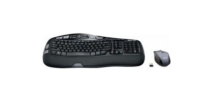 Logitech Comfort Wave Wireless Keyboard and Optical Mouse (MK570)