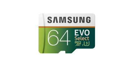 64GB Samsung MicroSDXC EVO Select Memory Card with Adapter