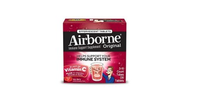 30 Count Airborne Very Berry Effervescent Tablets 1000mg of Vitamin C Immune Support Supplement