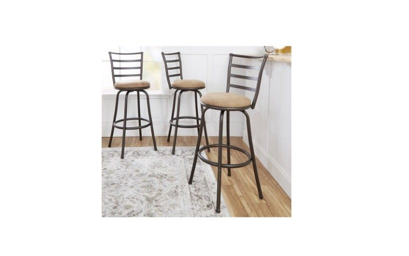 Tremendous 3 Count Mainstays Adjustable Height Swivel Barstool For Unemploymentrelief Wooden Chair Designs For Living Room Unemploymentrelieforg