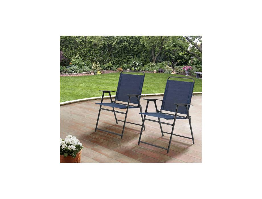 Mainstays Pleasant Grove Sling Folding Chair, Set of 2 for $36.97 at Walmart