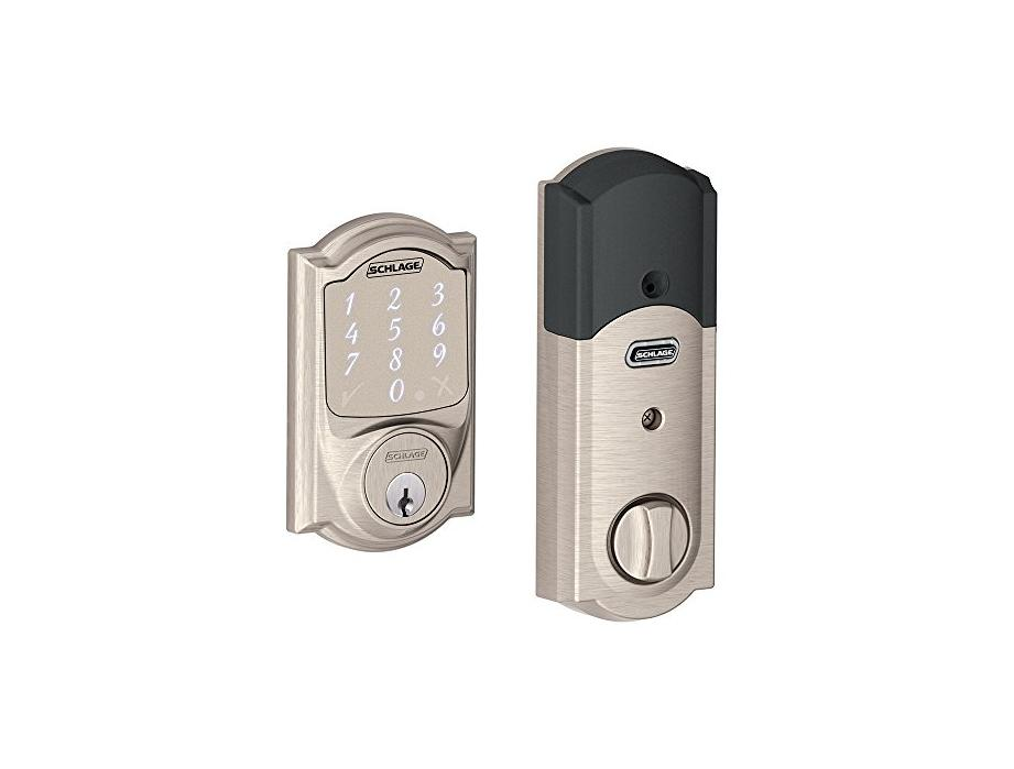 Schlage Sense Smart Deadbolt with Camelot Trim Satin Nickel (BE479 CAM 619) Works with Alexa - BE479AA V CAM 619 for $174.00 at Amazon