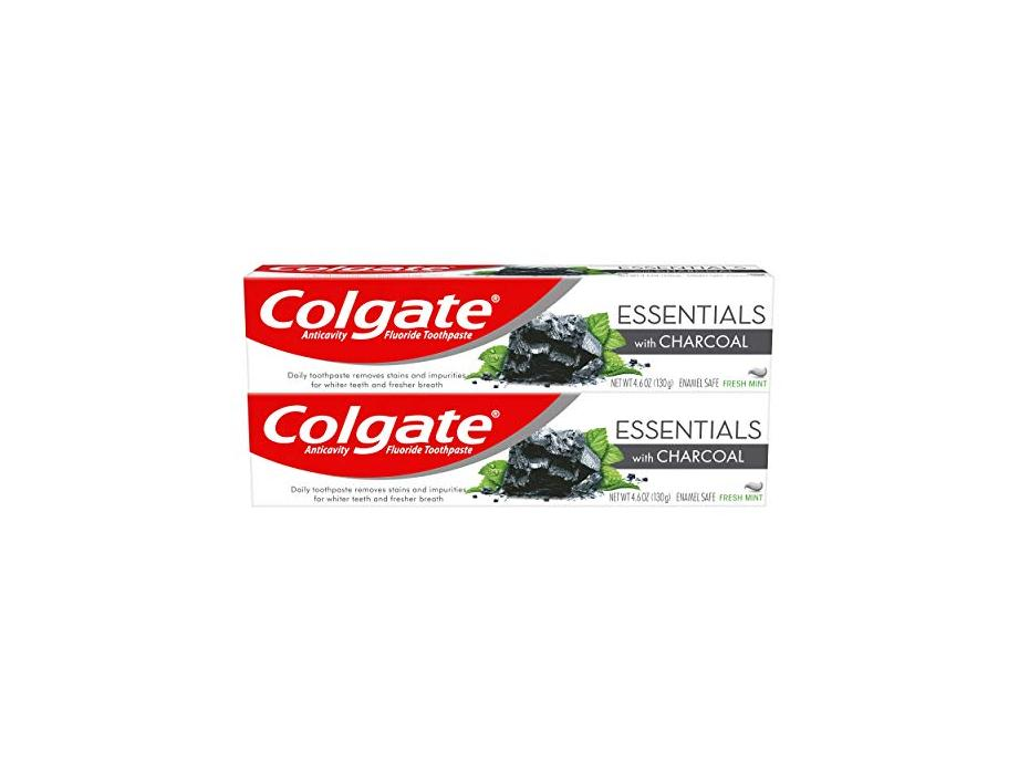 Colgate Essentials Charcoal Teeth Whitening Toothpaste 4 6 Ounce