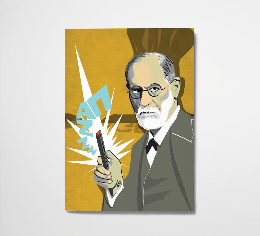 Esquire illustration – Freud