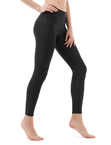 TSLA Yoga Pants Mid-Waist/High-Waist Tummy Control w Side/Hidden Pock...