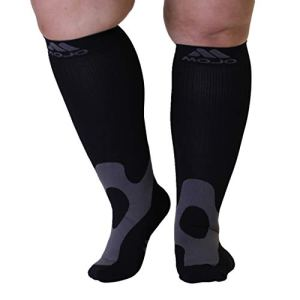 5XL Mojo Compression Socks 20-30mmHg EX-Wide Calf Compression Stockin...