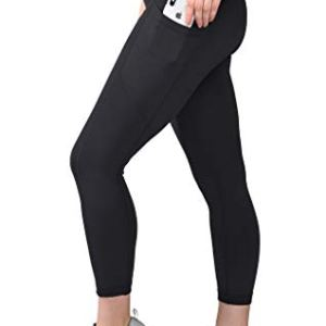 90 Degree By Reflex High Waist Squat Proof Yoga Capri Leggings with S...