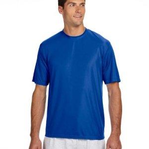 A4 Shorts Sleeve Cooling Performance Crew Shirt (N3142) Royal Blue, M