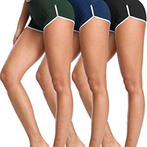 Cadmus Women's Workout Yoga Gym Shorts,1301,Black & Navy Blue & Dark ...
