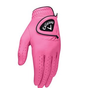Callaway Golf 2017 Women's OptiColor Leather Glove, Pink, Small, Worn...