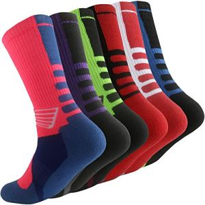 Thsbird Mens Outdoor Sport Cushion Elite Basketball Socks,Dri-Fit Mid...