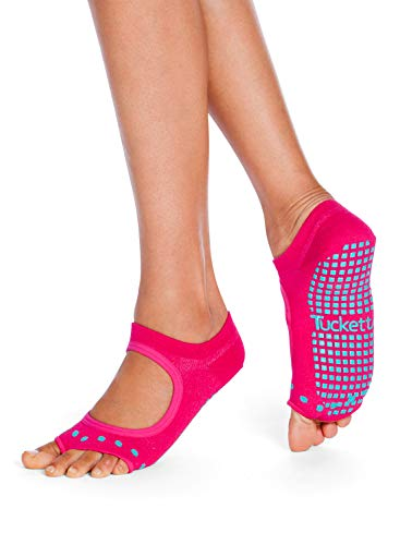 Tucketts Womens Yoga Socks, Toeless Non Slip Skid Grip Low Cut Socks ...