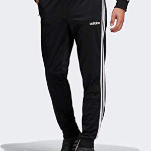 adidas Essentials Men's 3-Stripes Tapered Tricot Pants, Black/White, ...