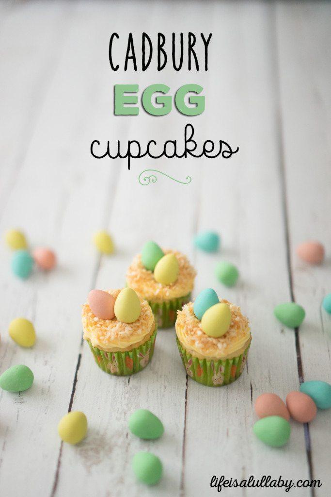 Cadbury Mini Egg Cupcakes for Easter