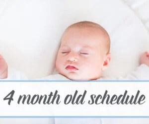 4 month old breastfeeding schedule