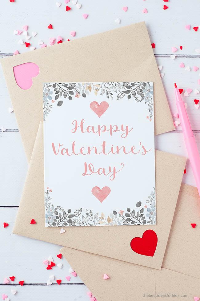Happy Valentine Day Printable Card