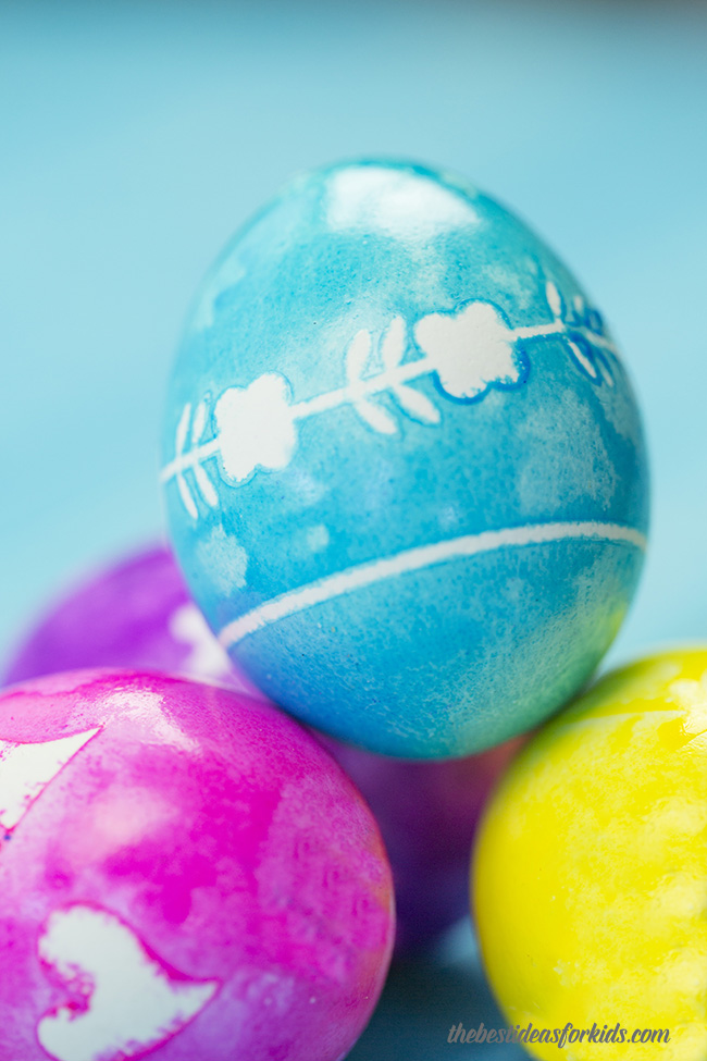 Easter Craft with Stickers on Easter Eggs