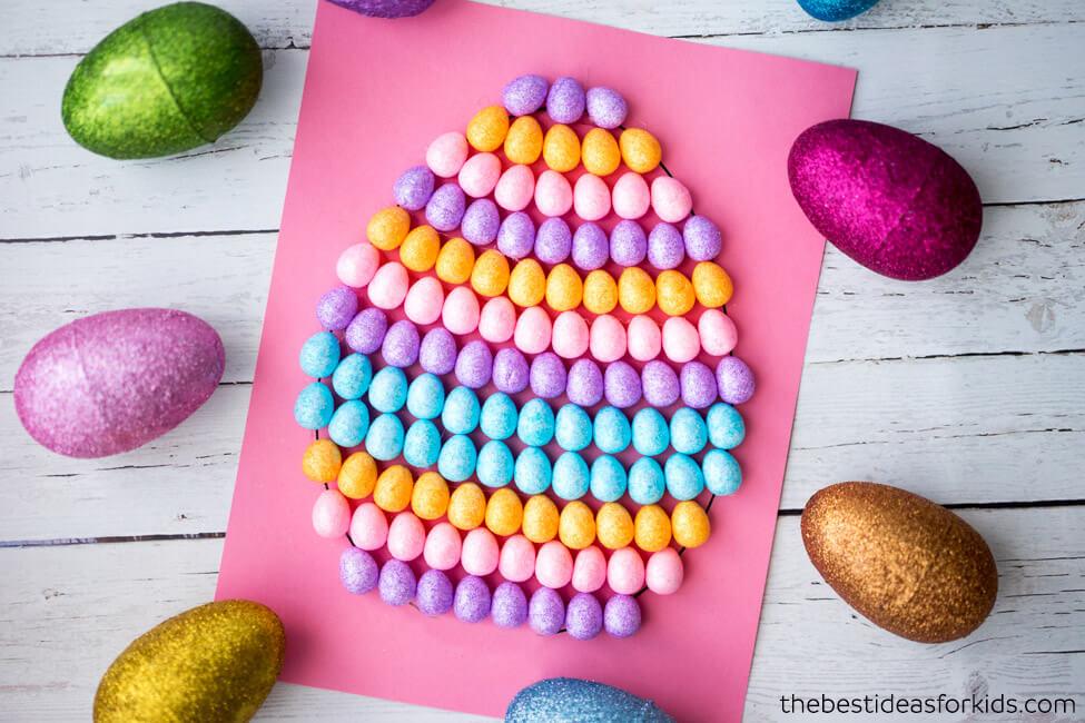 Mini Egg Easter Art Kids Craft