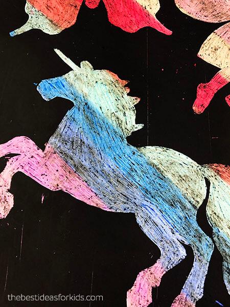 Unicorn Scratch Art