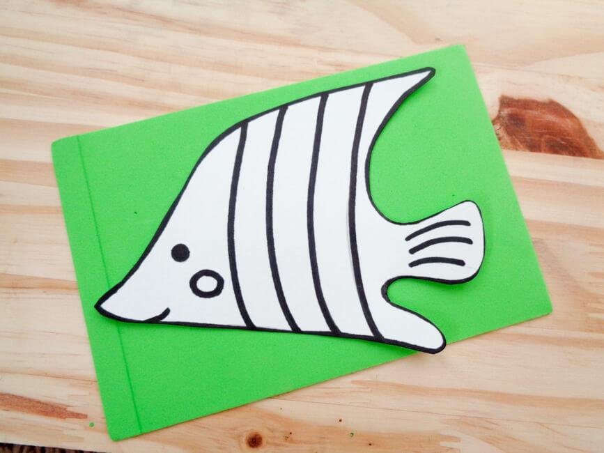 Fish Card Trace Green