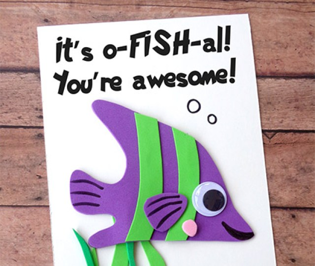 Fish Card Craft For Kids
