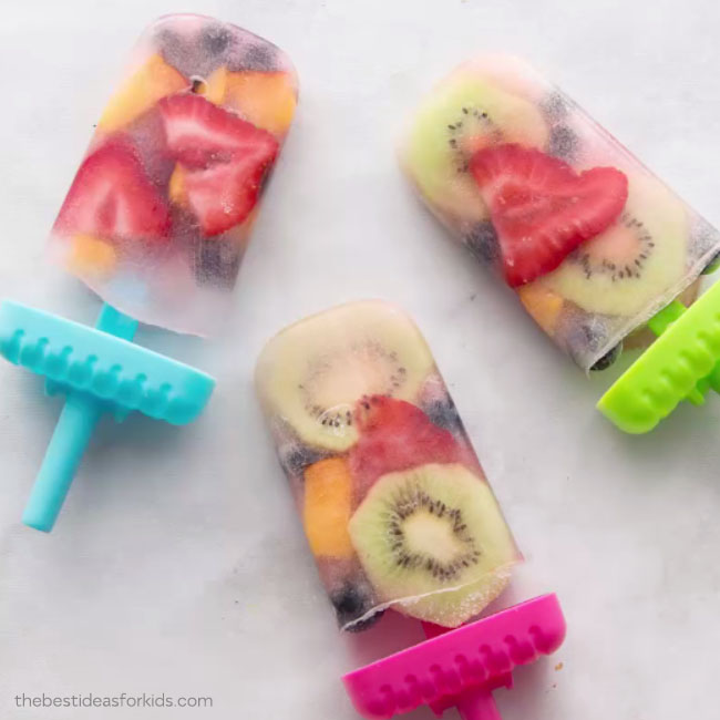 Frozen Fruit Popsicles