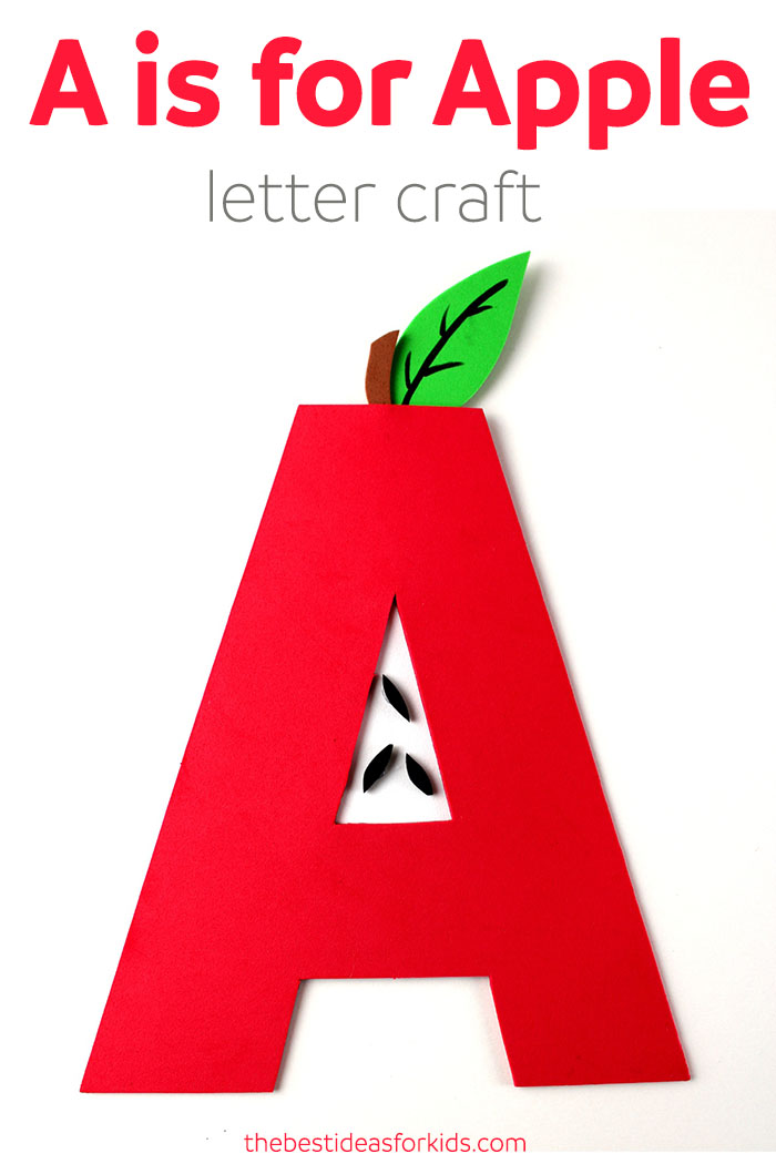 Letter A Craft - A is for Apple