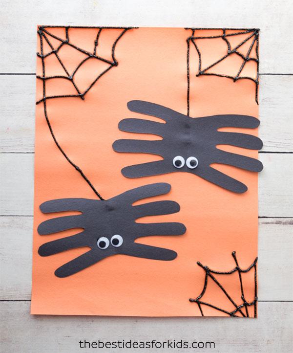 Spider Handprint Craft