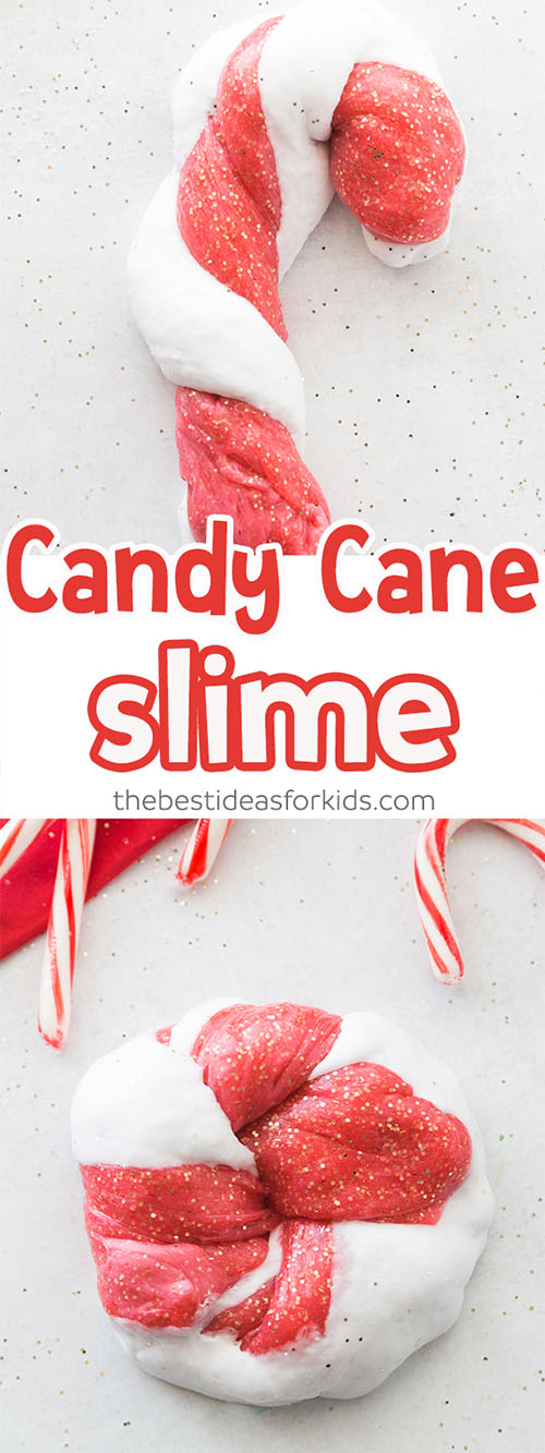 Candy Cane Slime Recipe