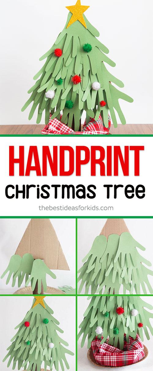 Christmas Handprint Tree