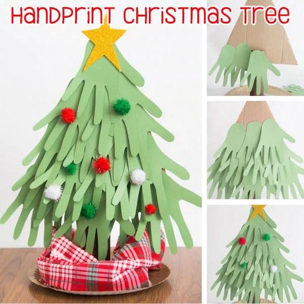 Handprint Christmas Tree Craft for Kids