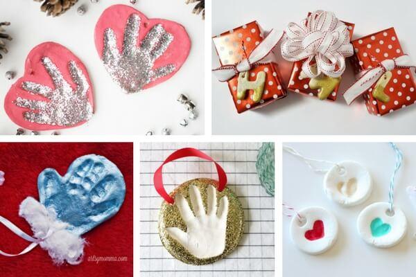 Salt Dough Handprint Ideas