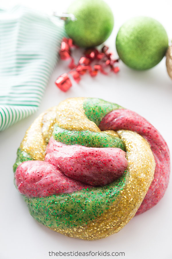 Christmas Glitter Slime Recipe