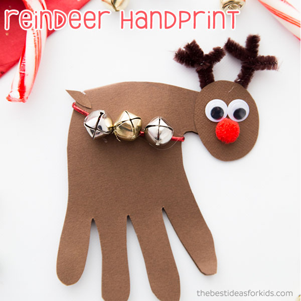 Christmas Handprint Reindeer Craft