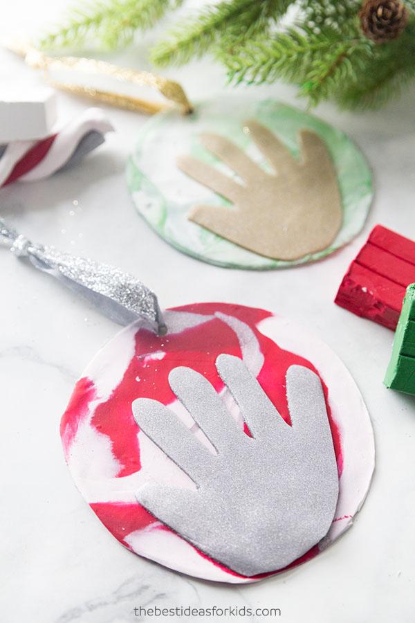 Clay Handprint Ornament