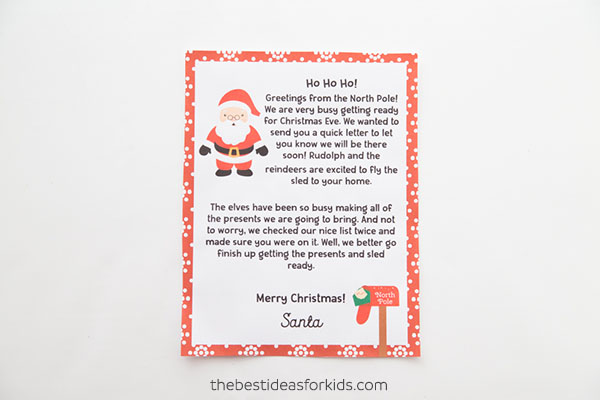 Free Letter from Santa Template