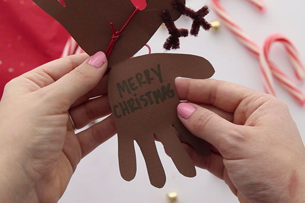 Handprint Reindeer Christmas Card