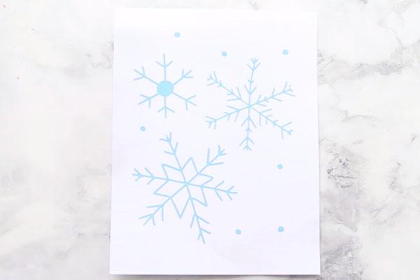 Snowflake Art Template