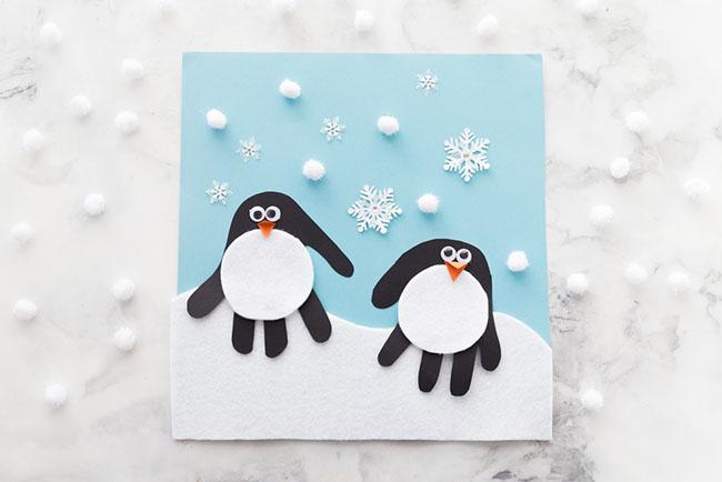 Handprint Penguin The Best Ideas For Kids