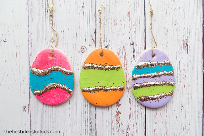 Salt Dough Easter Eggs