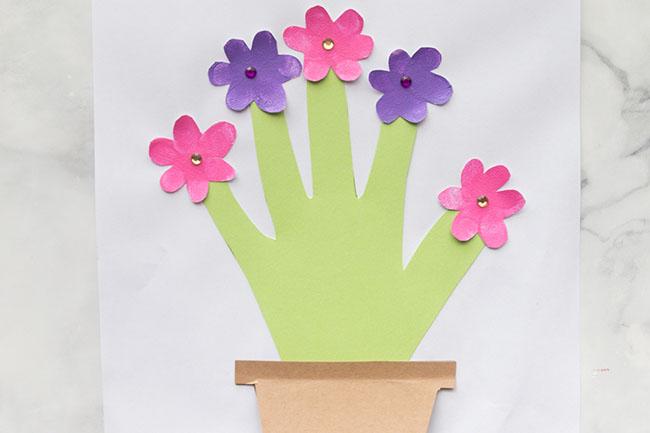 Handprint Flower Card