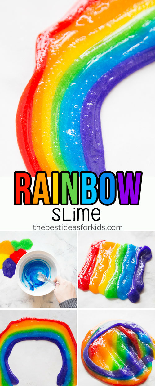 How to Make Rainbow Slime Recipe for Kids