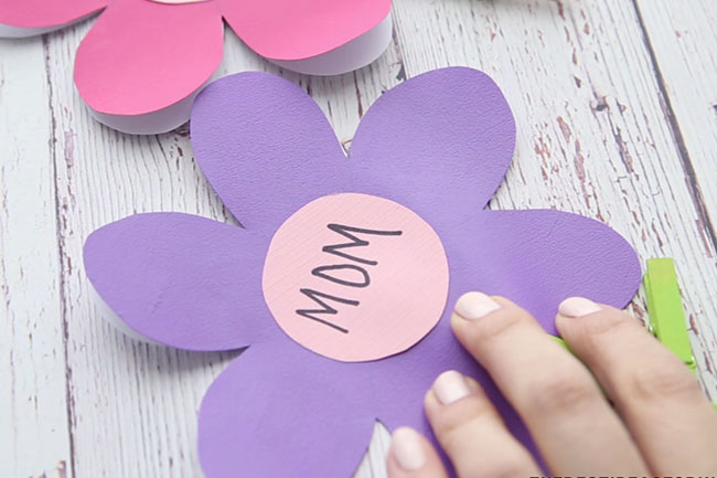 Mom Flower Template