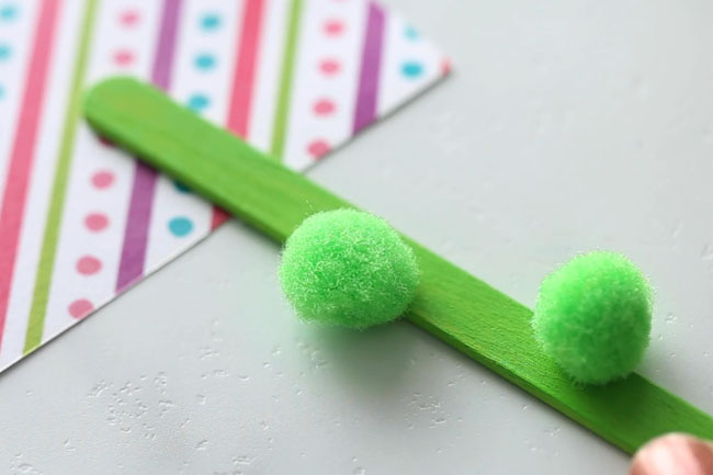 Paint Popsicle Stick Green